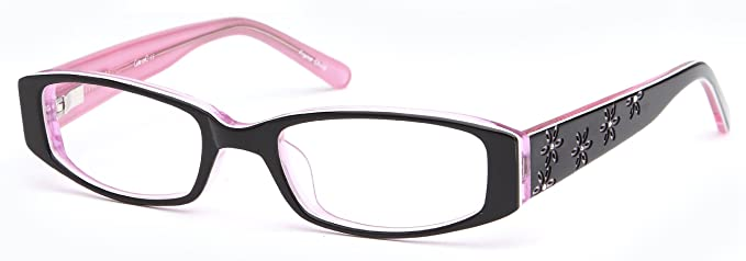 e363ecfd5f8 Childrens Flower Petal Prescription Rx-able Eye Glasses Frames in Black and  Pink