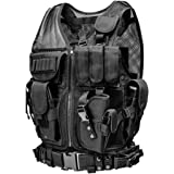 YYAN Tactical Vest Adjustable Breathable Molle Military CS Hunting