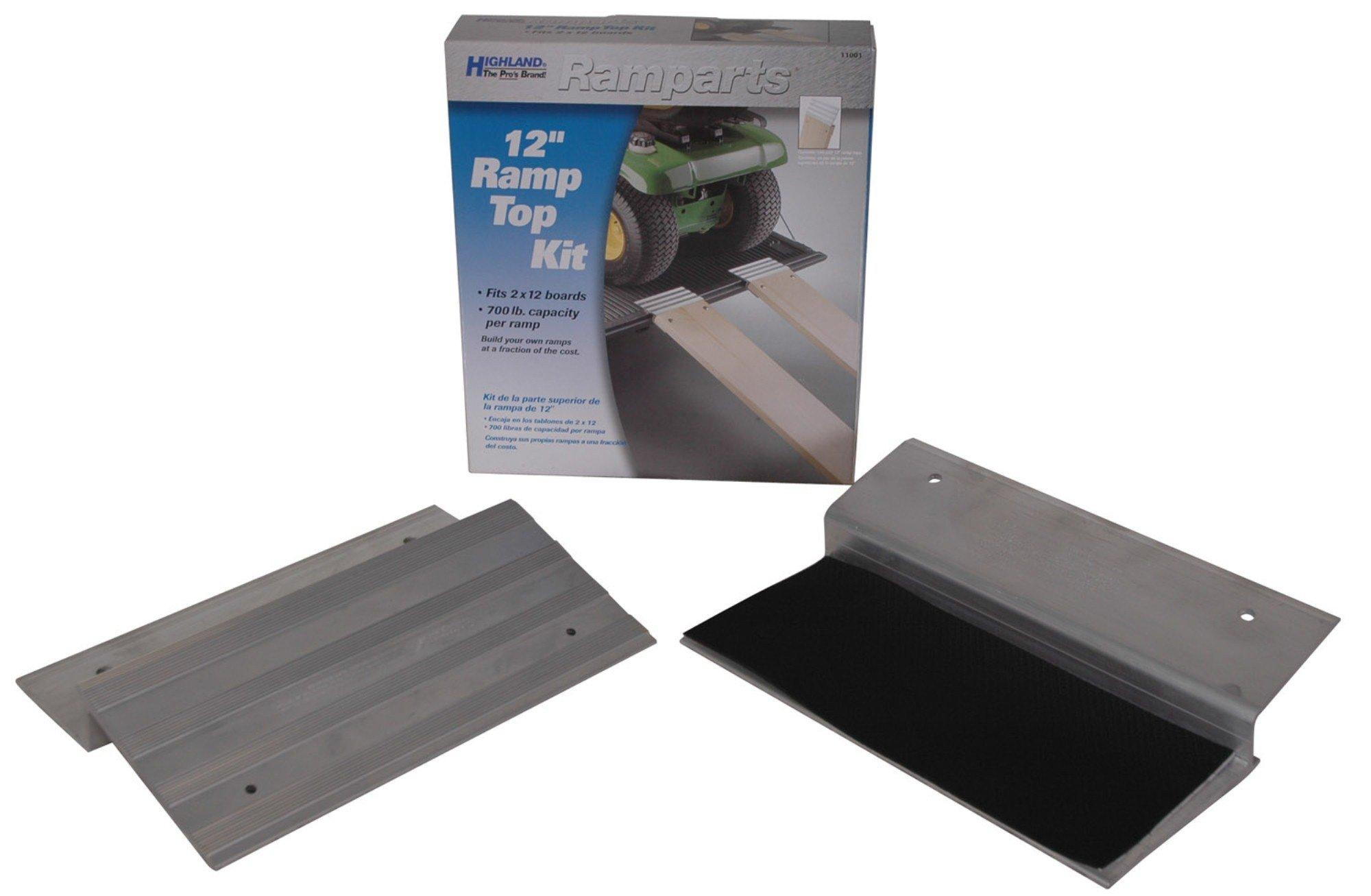 Highland (1100100) Ramparts 12'' Aluminum Ramp Top Kit - 2 Piece