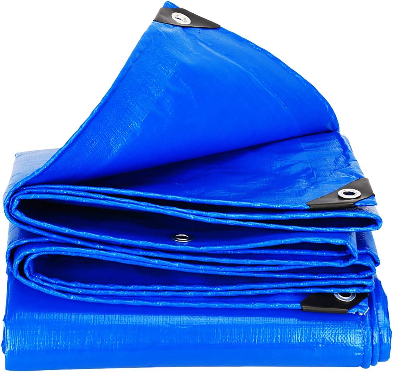 ANUO Toldo Reforzado Cubierta De Lona Impermeable Al Aire Libre Con Ojales Ligera Pergola Dosel De Sombra De Tela Jardín Tienda De Campaña De Lona Prueba (Color : Blue, Size : 9x12ft/3x4m):