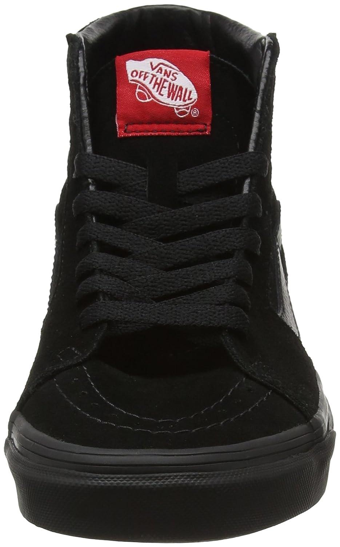 Vans Sk8-Hi Unisex Casual High-Top Skate Shoes, Comfortable and Durable in Signature Waffle Rubber Sole B0020MLZ32 6 B(M) US Women / 4.5 D(M) US Men Black/Black
