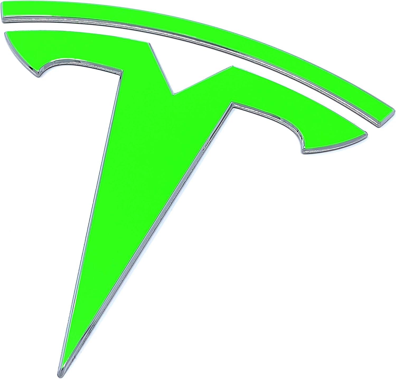 Custom Cut Graphics Tesla Model 3 Logo Decal Wrap Carbon Fiber Black