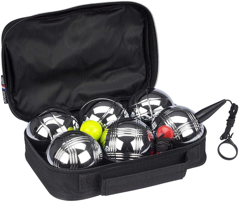 Get /& Go Spiel Boule Set VI 6 Kugeln Boulekugeln Metallkugeln Petanque Boccia