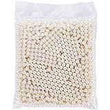 AIYoo Pearls for Makeup Brush Holder Organizer 1500 pcs Highlight Plastic Round Pearls, Diameter 8 mm,DIY Art Faux Pearls,Make Up Brush Holder Accessories,ivory white