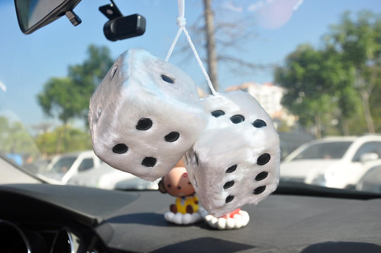 Winomo rosso appeso dice charm auto Rearview specchio appeso accessori per decorazione auto