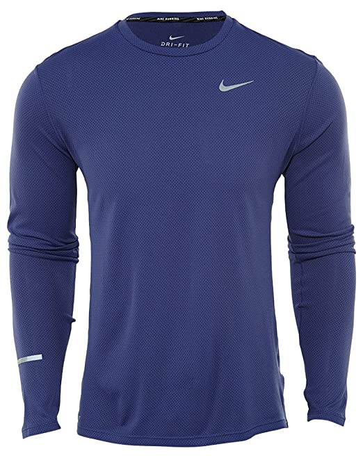 7a44f0555e Nike Dri-Fit Contour LS Maglia da Running: Amazon.it: Abbigliamento