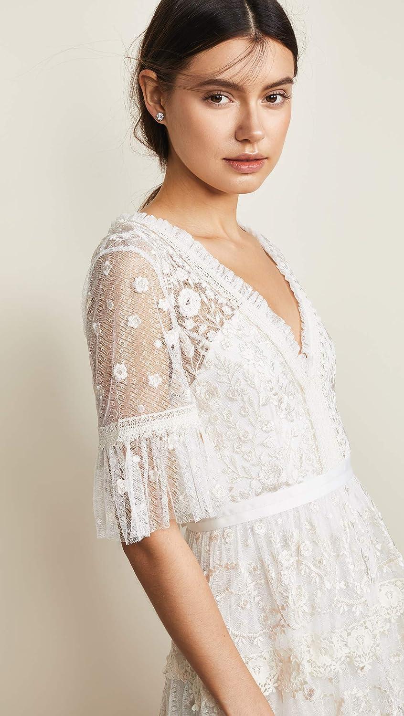 48b96899c446 Needle & Thread Women's Midsummer Lace Dress, Ivory, Off White, 2 at Amazon  Women's Clothing store: