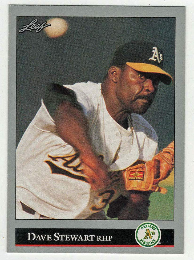 Amazoncom Dave Stewart Baseball Card 1992 Leaf 258 Nmmt