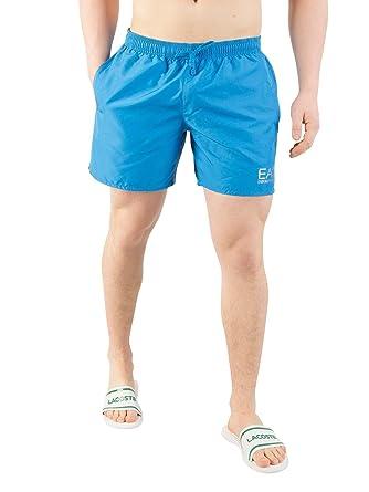 2284ddf433 EA7 Emporio Armani Sea World Swim Shorts In Turquoise Blue: Amazon.co.uk:  Clothing