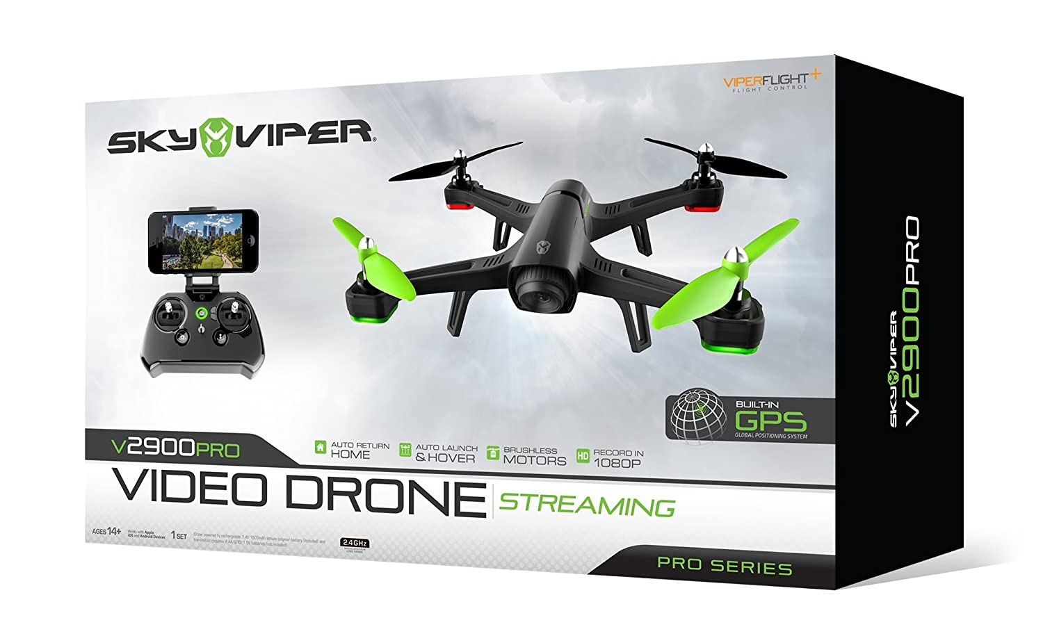 Skyrocket Toys Sky Viper v2900PRO Streaming Video Drone - Pro ...
