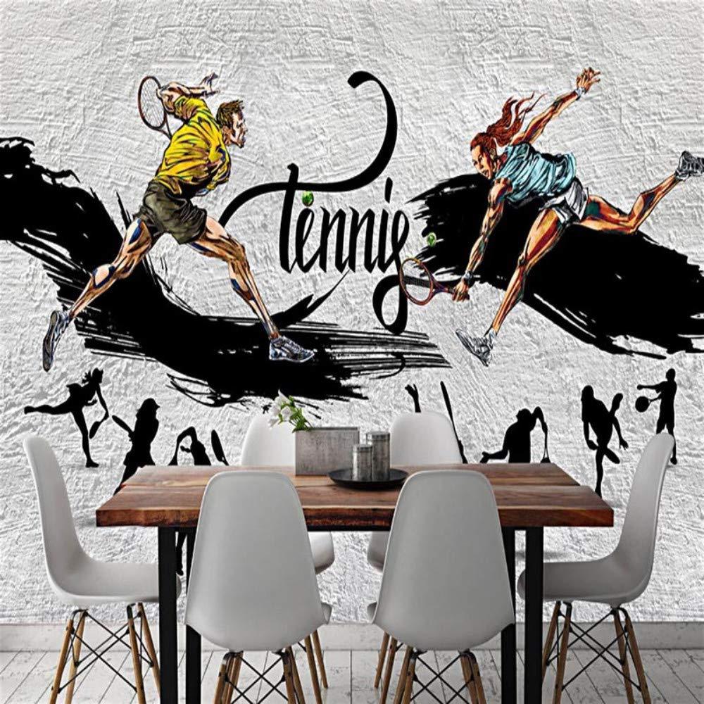 Papel tapiz 3D personalizado Creativo Moderno Tenis Graffiti ...