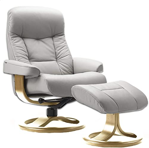 Fjords Muldal Large Leather Ergonomic Recliner Chair