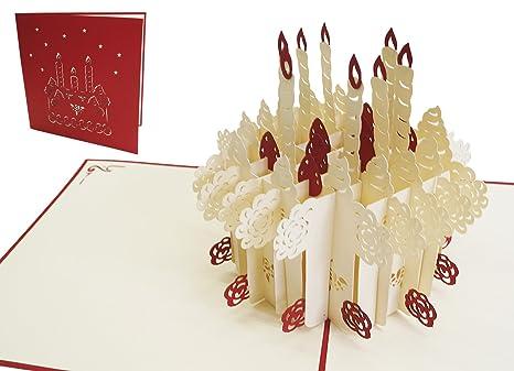 Amazon.com: Lin Pop-up - Tarjeta de felicitación 3D, diseño ...