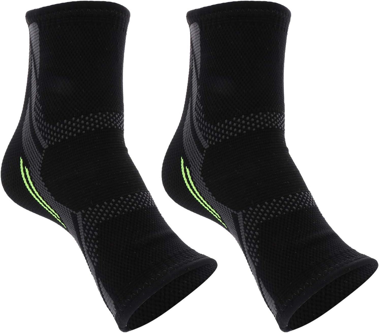 Veemoon 1 par de Tobilleras Soporte Ortopédico Transpirable Profesional para El Tobillo Calcetines de Protección Deportiva para El Arco del Pie Fascitis Plantar del Talón (Talla S)