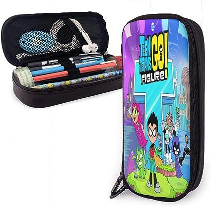 Teen Titans Go - Estuche para lápices, gran capacidad, estuche para lápices, estuche para lápices, estuche con varios compartimentos para niños y niñas: Amazon.es: Oficina y papelería