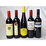 セレクション 赤ワイン 5本セット ( イタリアワイン 2本 チリワイン 1本 ドイツワイン 1本 スペインワイン 1本)計750ml×5本