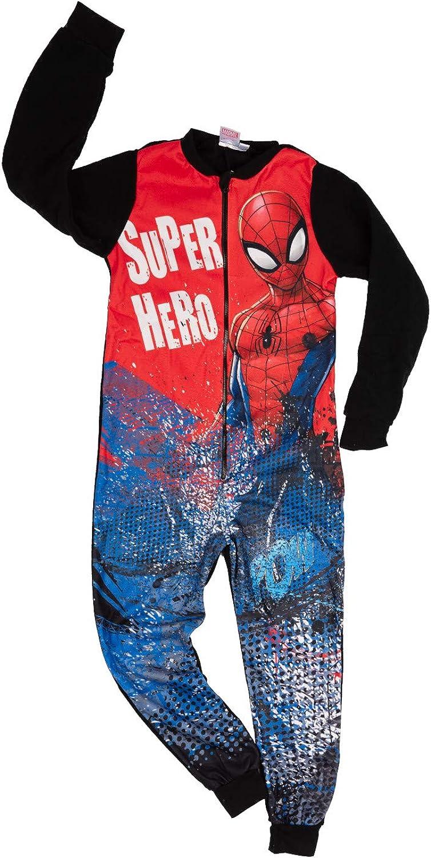 Spider-Man Jungen Jumpsuit Kinder Overall Einteiler Onsie Schlafanzug