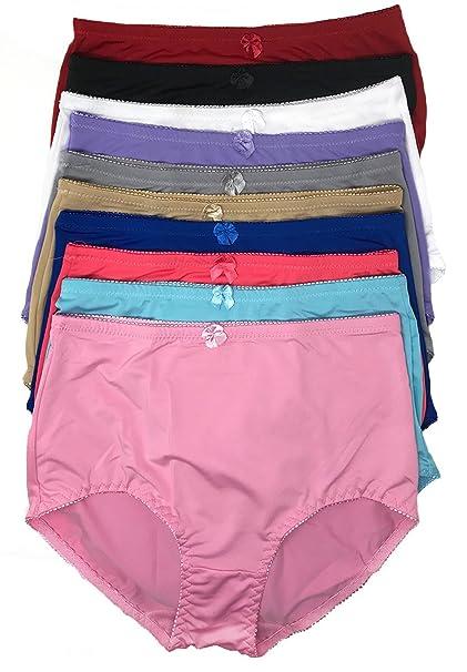 8370b6e02f2e Peachy Panty 6 Pack Women's Plus Size High-Rise Girdle Panties Nylon ...