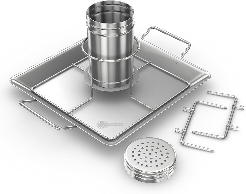 New Gourmet Beer Can Chicken Roaster Rack w// Handles Oven Grill Smoker BBQ