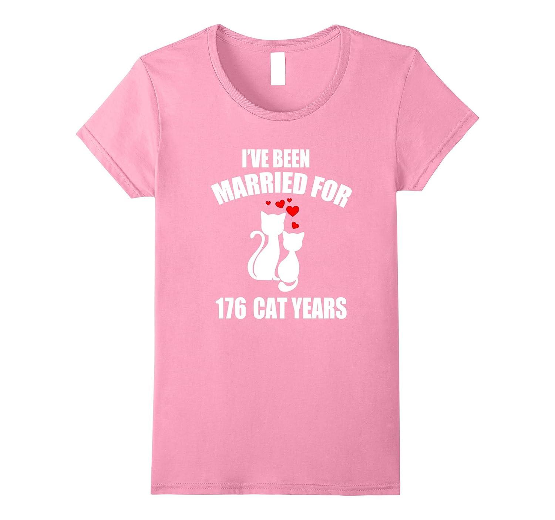 40th Wedding Anniversary T-Shirt 176 Cat Years Gift