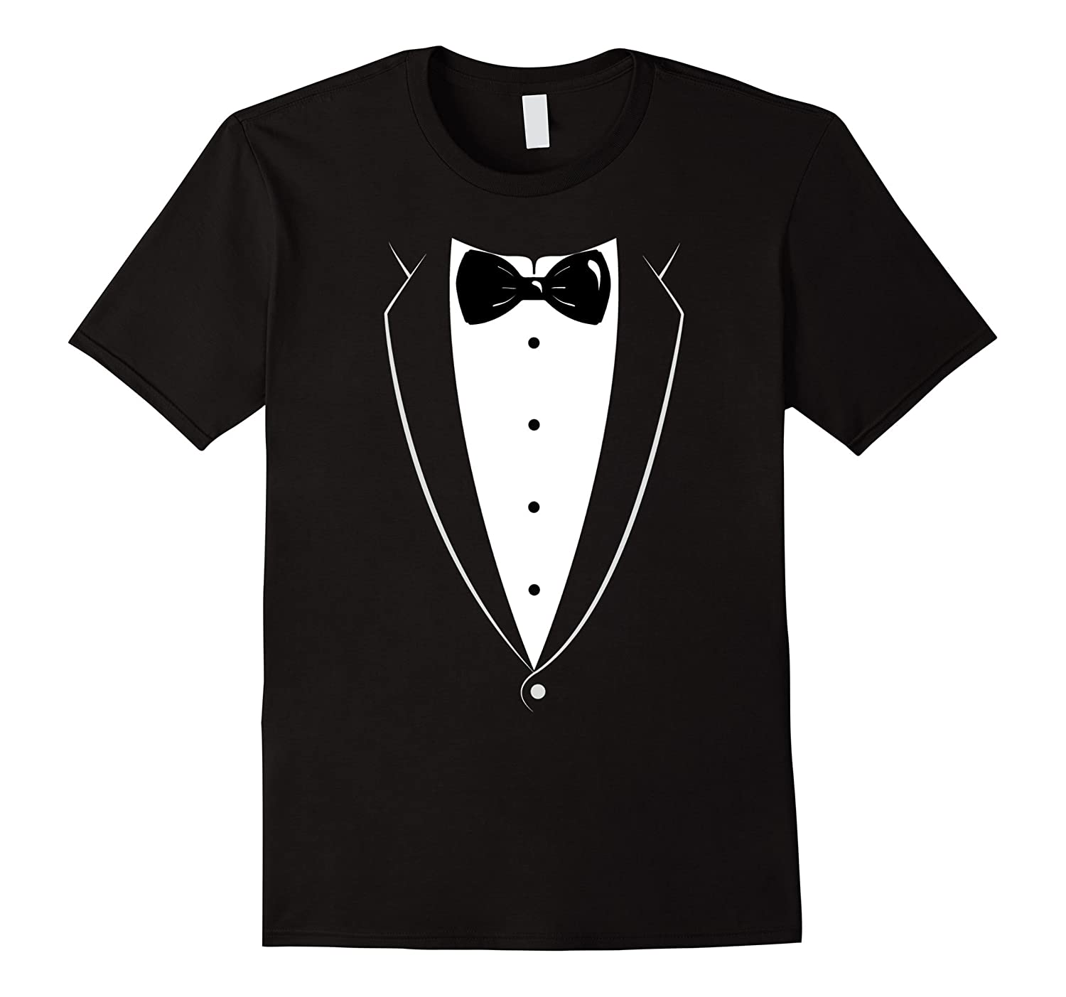 Black And White Tuxedo With Bow tie Funny Novelty T Shirt-FL