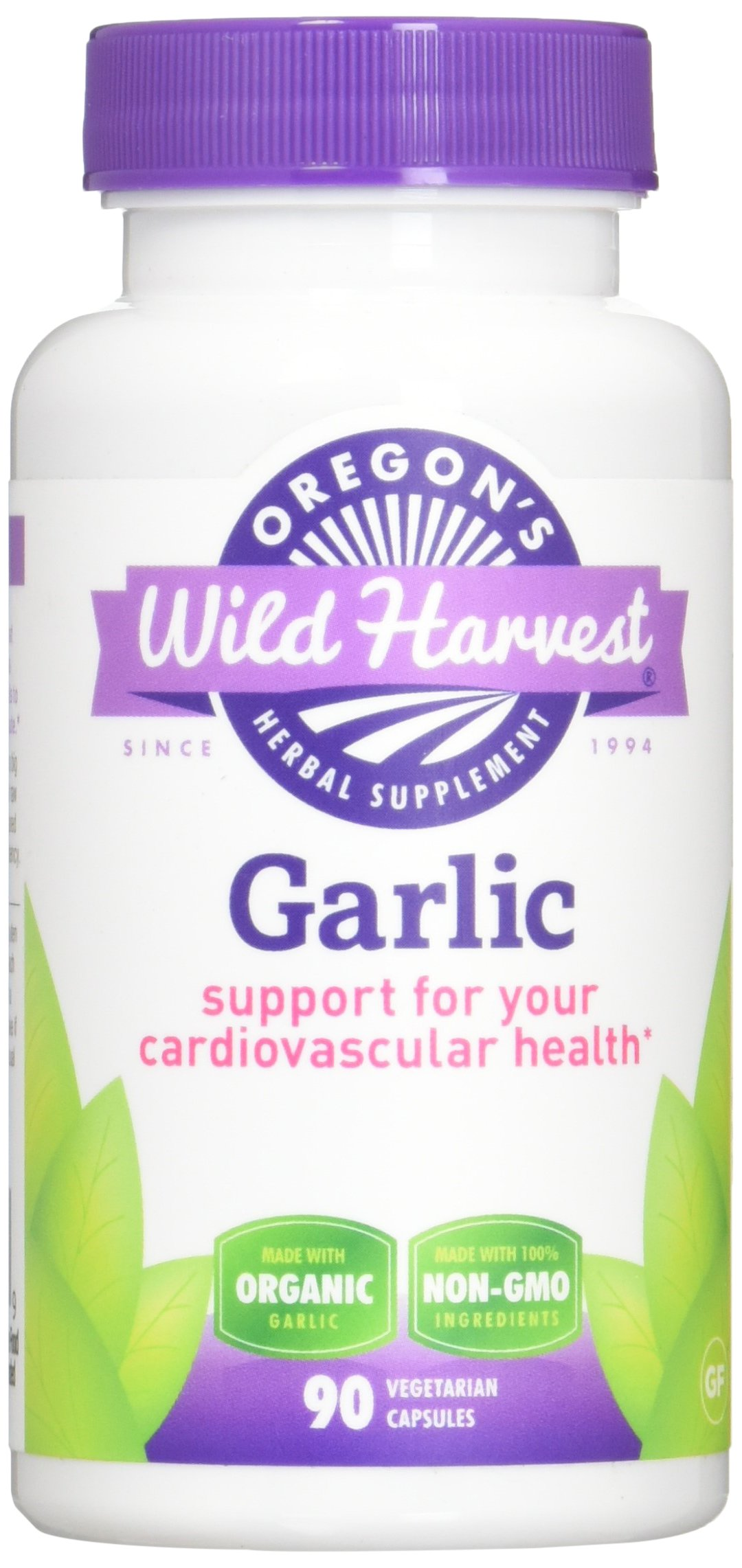 Oregon's Wild Harvest Garlic Organic Herbal Supplement, 90 Count