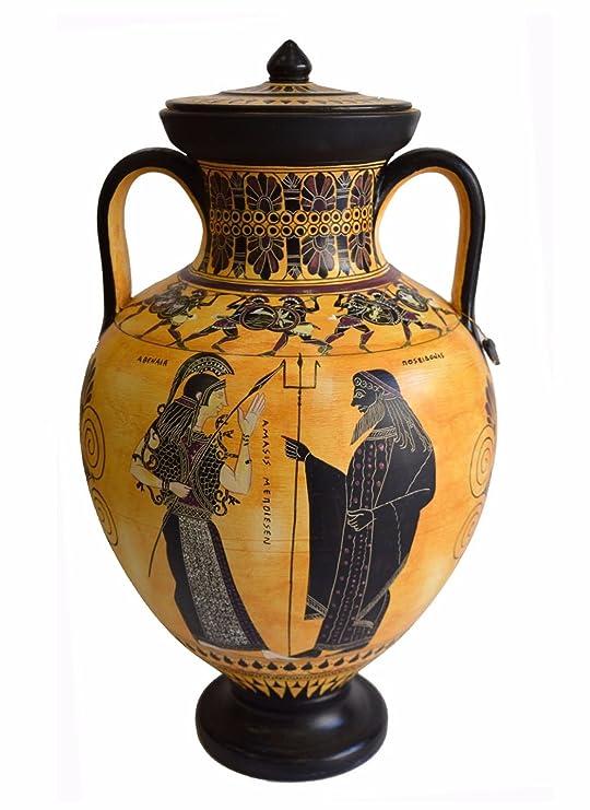 Amazon Dionysos With Maenads Amasis Ancient Greek Amphora