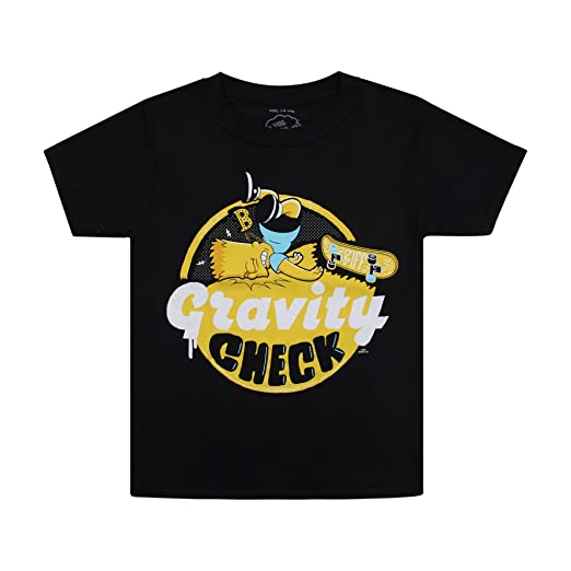 Simpsons Gravity Check, Camiseta para Niñashttps://amzn.to/36Snj5E