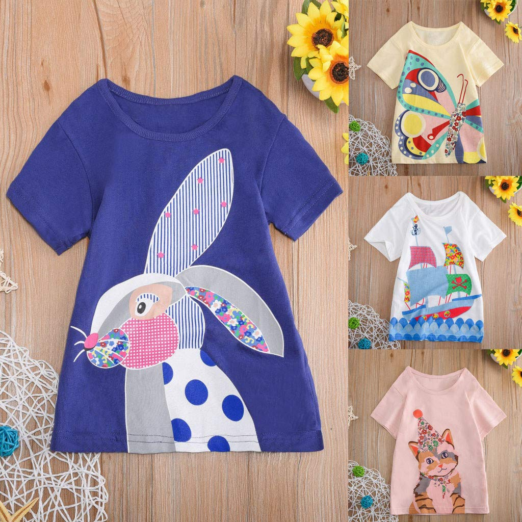 Toddler Kids Baby Boys Girls Clothes Short Sleeve Cartoon Tops T-Shirt Blouse by Sunsee (Image #5)