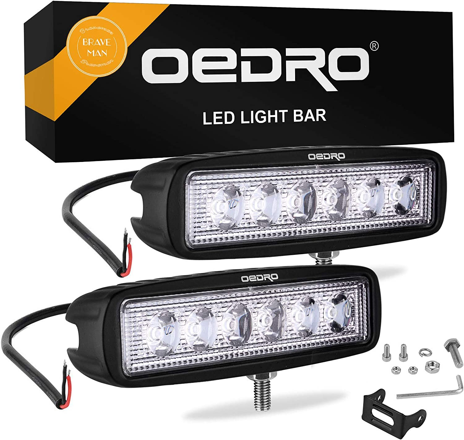 2pcs Black LED Work Light Bar Driving Lamp Cover fit Off-Road 4WD 4/'/' 18W