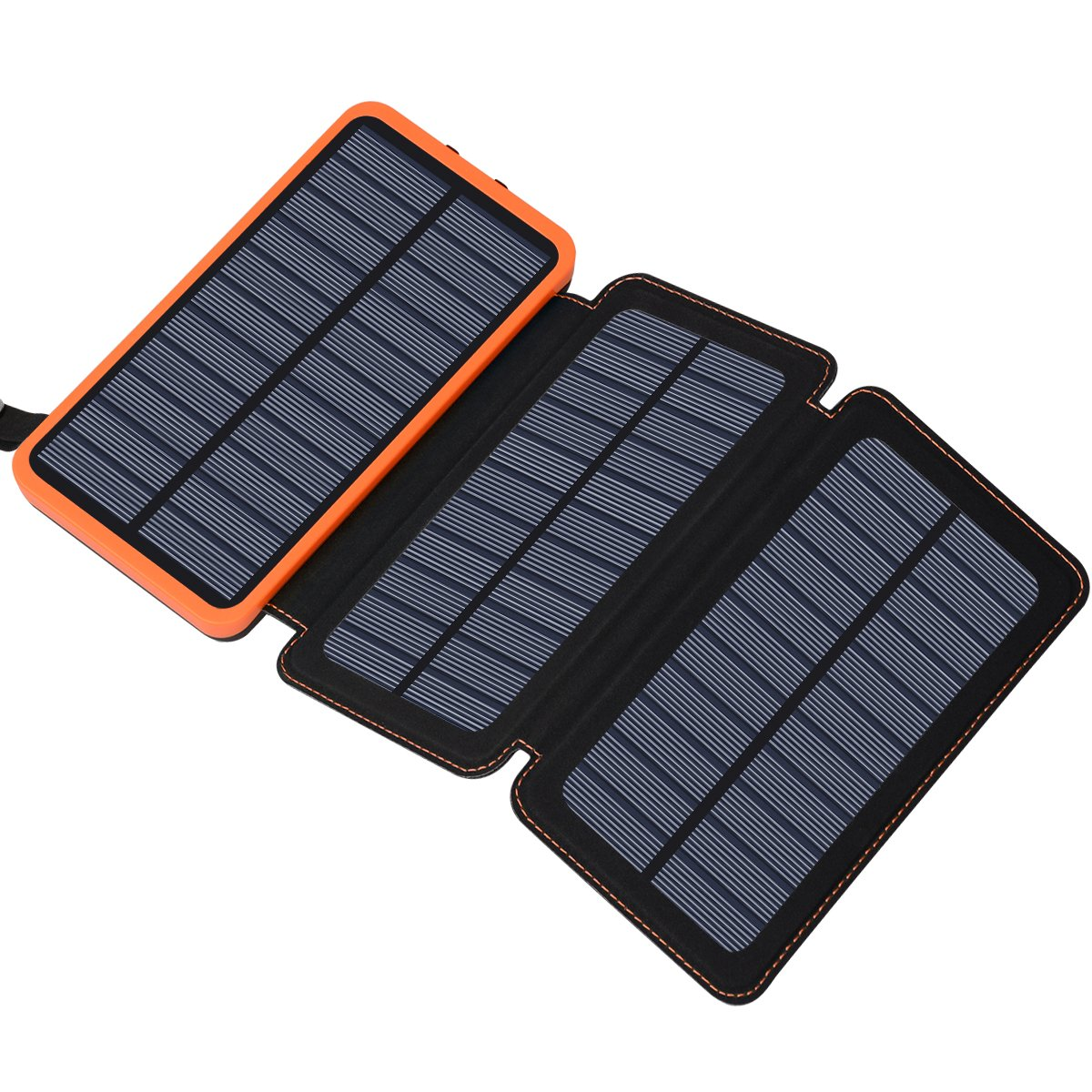 Solar Charger 24000mAh, FEELLE Solar Power Bank with 2 USB Ports Waterproof Portable External Battery Compatible with Smartphones, Tablets and More by Feelle