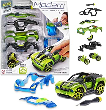 Make Your Own Car >> Modarri Delux S2 Muscle Car Build Your Car Kit Toy Set Ultimate Toy Car Make Your Own Car Toy For Thousands Of Designs Real Steering And