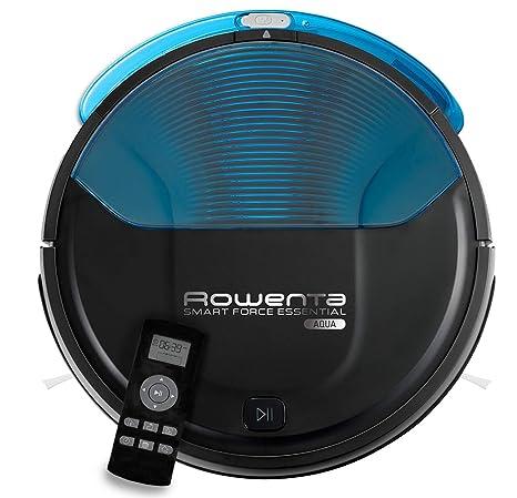 Rowenta Smart Force Essential Aqua RR6971WH - Robot aspirador 2 en 1, aspira y friega, con sensores anticaída, bateria ión-litio de 150 minutos de ...