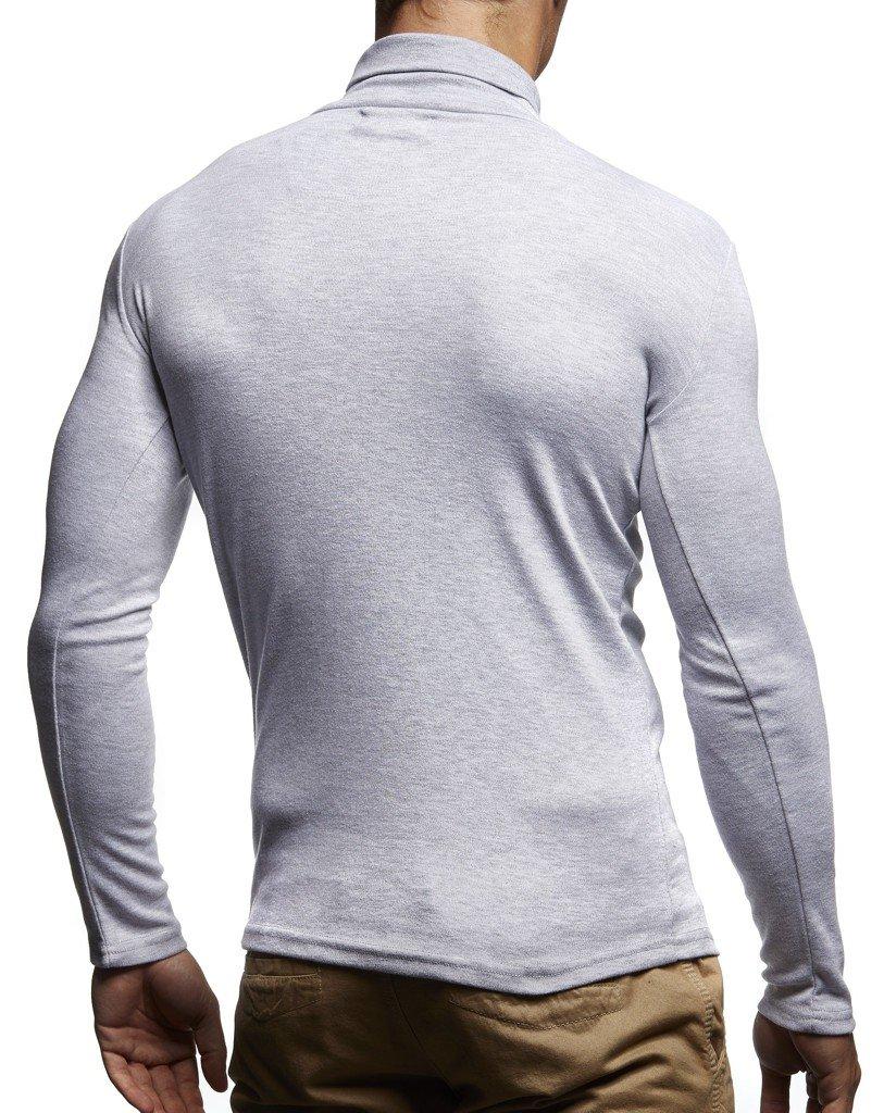 8c69cf644a96 Leif Nelson Herren Rollkragenpullover Pullover Rollkragen Hoodie Sweatshirt  Shirt