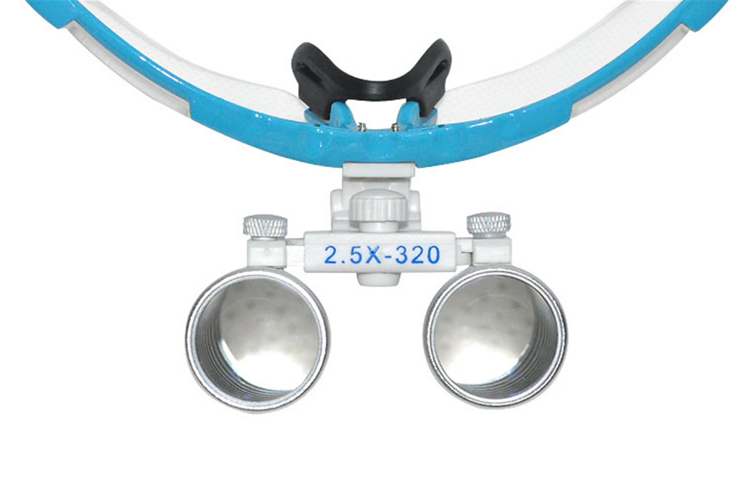 Denshine Kits Médico Quirúrgico Dental Gafas Lupas Binoculares 2.5×320MM(Azul)