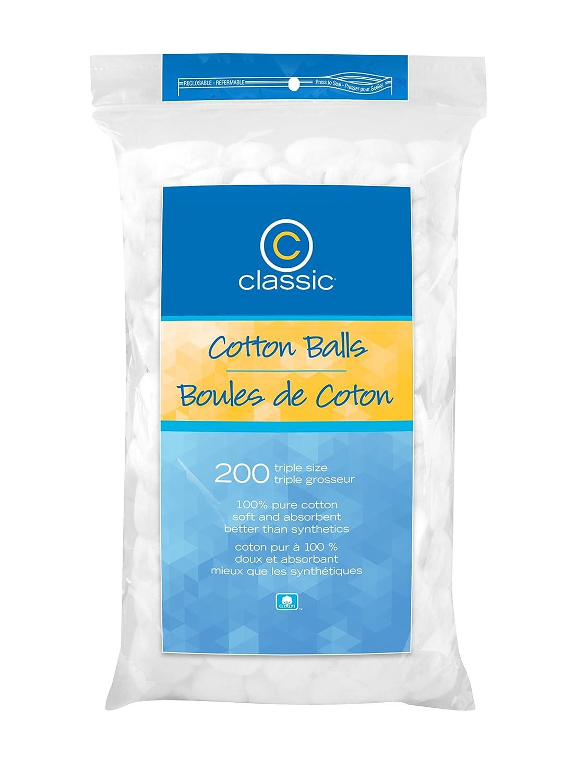 Classic Cotton Balls, Triple Size, 200 Count US Cotton BGTDL0200R01201CB