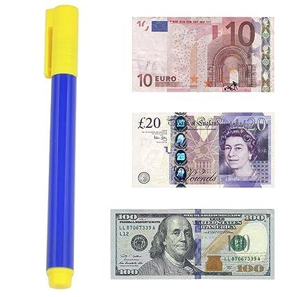 Accessotech - Bolígrafo de comprobación de dinero, bolígrafo con detector de billetes falsos