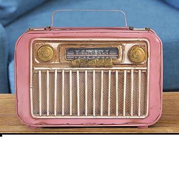 PAOSOSO Radio Antiguo Modelo/Ornamentos Antiguo Vintage/Soporte del Metal del-B: Amazon.es: Hogar