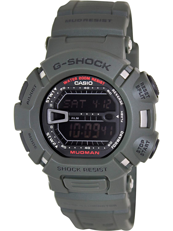 pretty nice 1faa3 c8e4b Amazon.com  Casio Men s G9000-3V G-Shock Green Mudman Digital Sports Watch,  Black  Casio  Watches