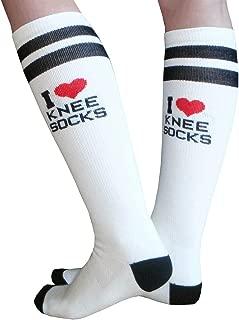 product image for Chrissy's Socks Women's I Love Knee High Socks 7-11 White/Black/Red