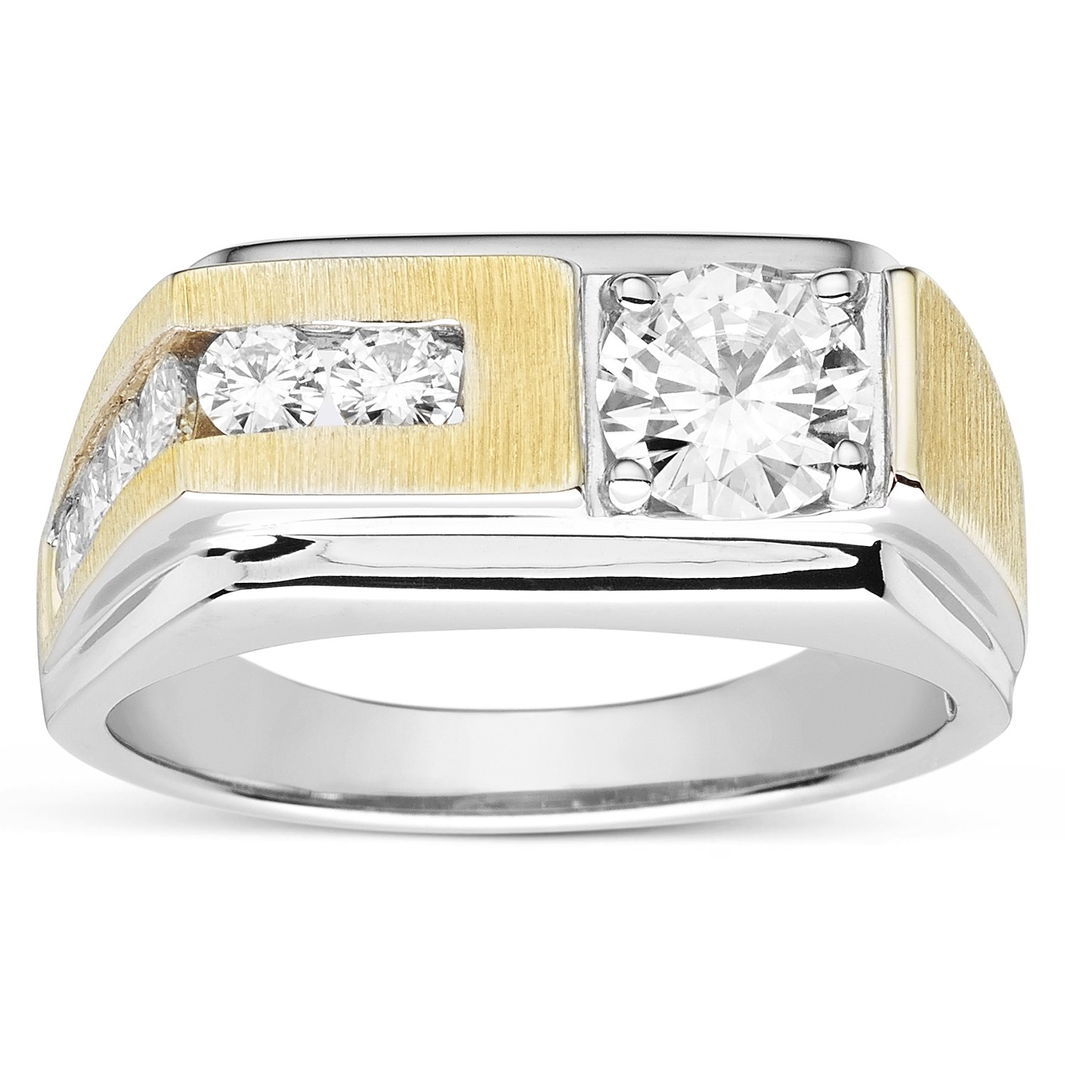 Forever Classic Men�s Round 6.5mm Moissanite Wedding Band-size 12, 1.60cttw DEW By Charles & Colvard