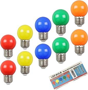 LED bulb Lamp e27 4w coloured Colors Purple Green Light Red Blue Yellow