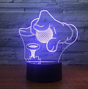 epicurism Golf Tournament 3D 7 Color Lamp Visual Led Night Lights for Kids Touch USB Table Lampara Lampe Baby Sleeping Nightlight
