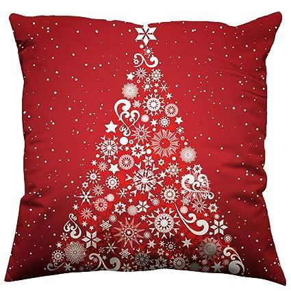 Merry Christmas Cotton Linen Cushion Cover Pillow Case Bed Car Sofa Home Decor