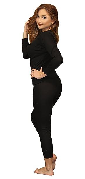 ca459b9da96c Moet Fashion Women's Soft 100% Cotton Waffle Thermal Underwear Long Johns  Sets (Small,