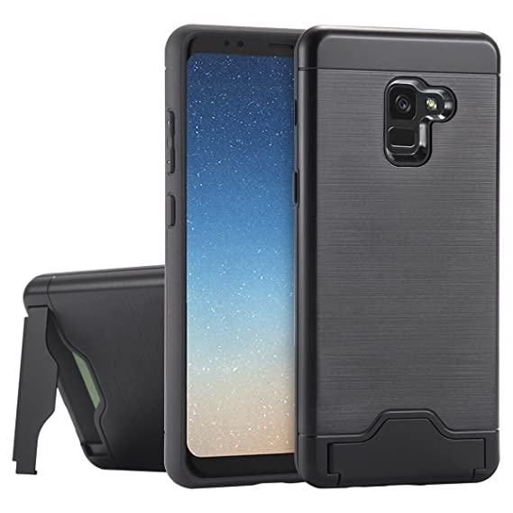 meet 1f86f 31d13 Petocase Compatibe Galaxy A8 Plus 2018 Case, Full Protection Hybrid Dual  Layer Shockproof Drop Resistant Kickstand and Card Slot Cover for Samsung  ...
