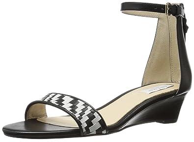 58ecdc8613fe Cole Haan Women s Genevieve Weave WDG Wedge Sandal Black 5 B US