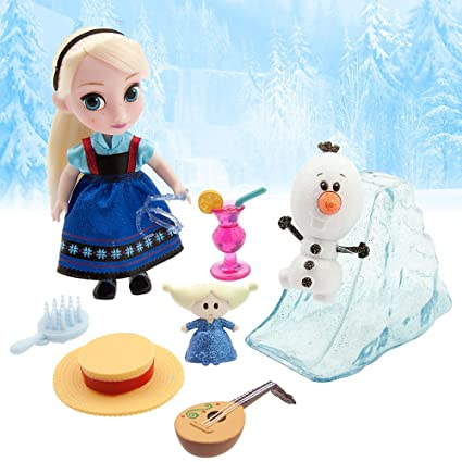 7a71fa08785 Amazon.com  Disney Animators  Collection Frozen Elsa Mini Doll Play Set - 5  Inch  Toys   Games