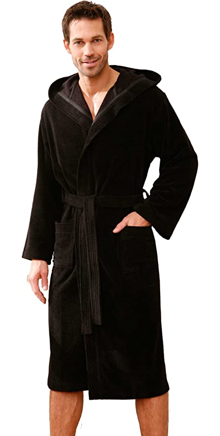 Bugatti Men\'s Dressing Gown with Ridge Hood and Soft, Absorbent ...