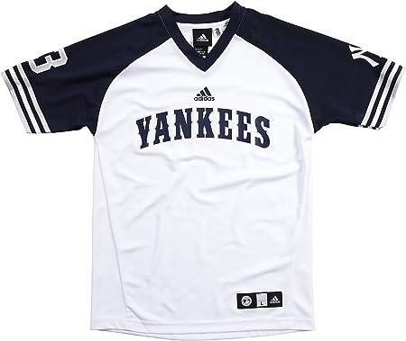 adidas Juventud MLB New York Yankees Alex Rodriguez Rendimiento tripulación Camiseta, 7/8 – pequeño: Amazon.es: Deportes y aire libre